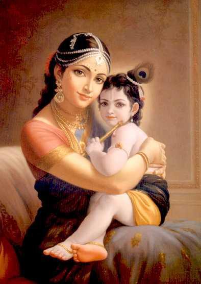 Madre Divina y su Hijo Krishna
