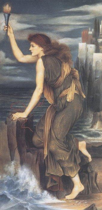 Hero Holding the Beacon for Leander 1885