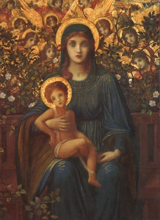 The Madonna and Child with attendant Angels 1849