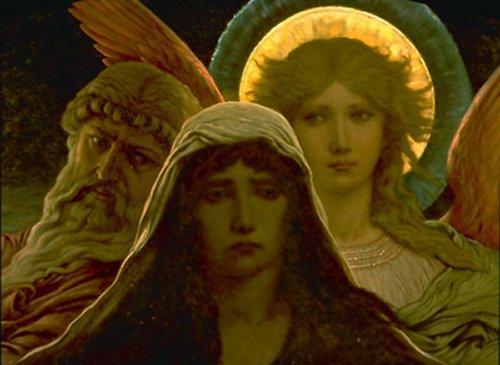 Elihu Vedder 1884 Alma acongozada entre la duda y la Fé