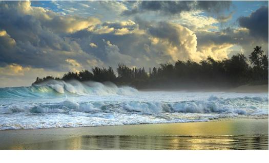 olas en playa